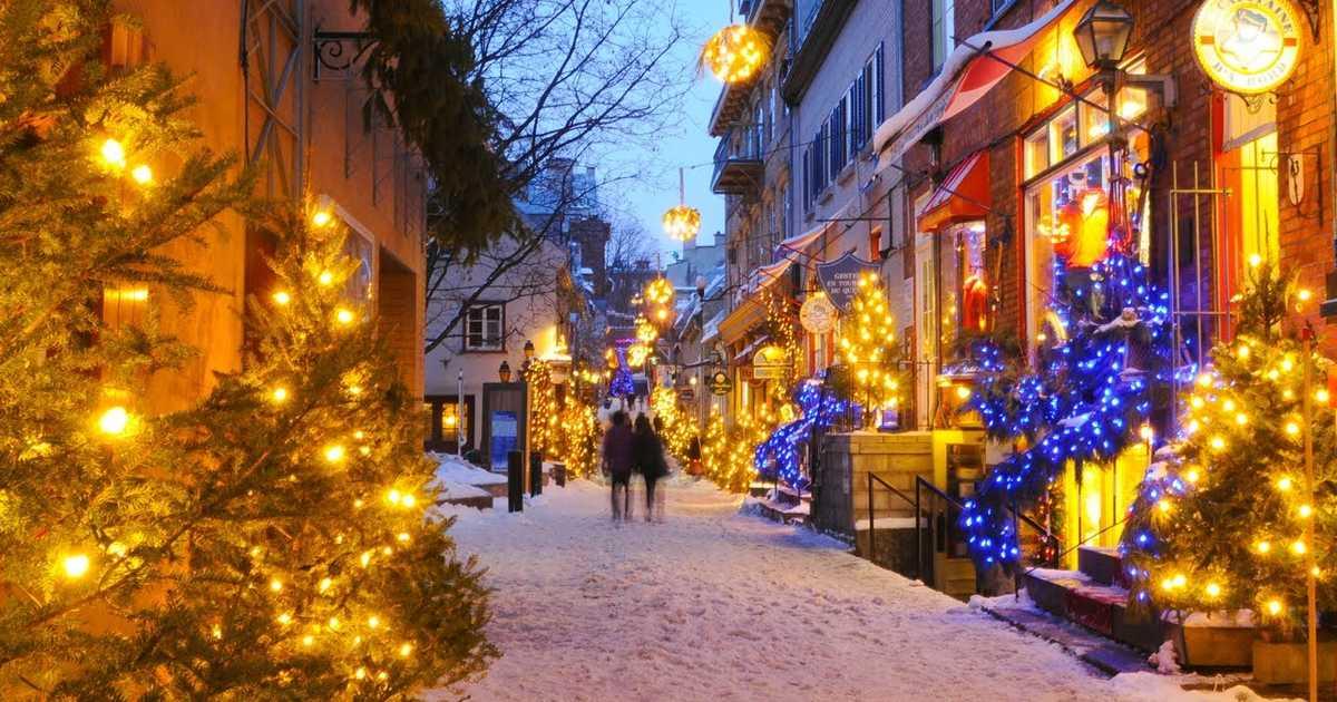 Ciudad de Quebec clasificada como el mejor destino de Navidad en el mundo